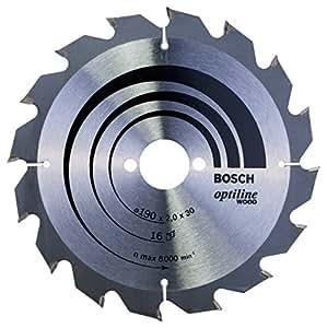 Bosch 2 608 641 184  - Hoja de sierra circular Optiline Wood - 190 x 30 x 2,0 mm, 16 (pack de 1)