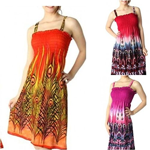 Wholesale-Lot-12-Womens-Sundresses-Silk-Blend-Assorted-Sizes-Sun-Dresses-with-Straps