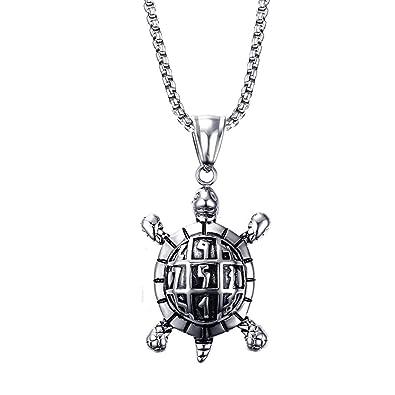 Amazon.com: Onlyfo - Collar con colgante de tortuga de acero ...