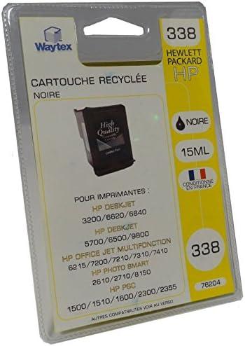 Waytex 76204 Pack de cartucho de tinta de alta traje compatible con impresoras HP negro: Amazon.es: Oficina y papelería
