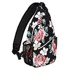 MOSISO Sling Backpack, Multipurpose Crossbody Shoulder Bag Travel Hiking Daypack, Rose