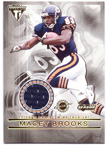 Macey Brooks 2001 Titanium Post Season Authentic Game Worn Jersey #23 - Chicago Bears 23 Chicago Bears Jersey