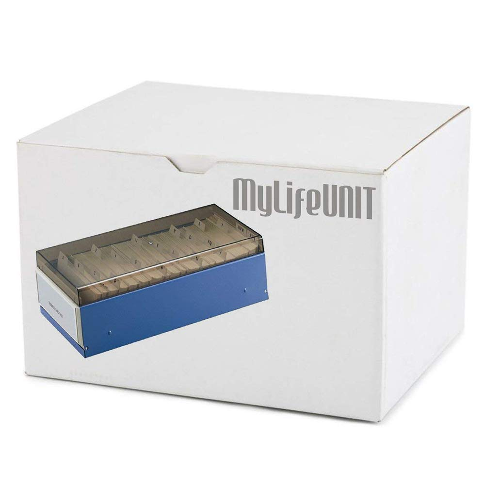 Amazon.com : MyLifeUNIT Index Business Card File, Name Card Organizer with 20 A-Z Guides (600 Cards) : Office Products
