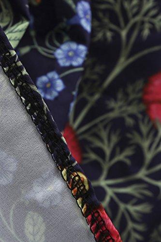 Robe Marine MisShow de Coton Soire Halter Motifs Cocktail Vintage Neck en Stretch Rtro Imprime anne Bleu 50s dggUaTcHW