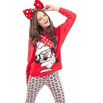 Disney Pijama DISNEY MUJER Invierno MINNIE MOUSE ROJO, L
