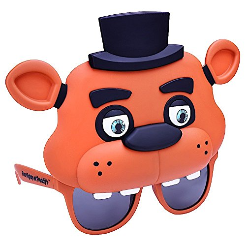Sun-Staches Costume Sunglasses Five Nights Freddy Fazbear Party Favors UV400 ()