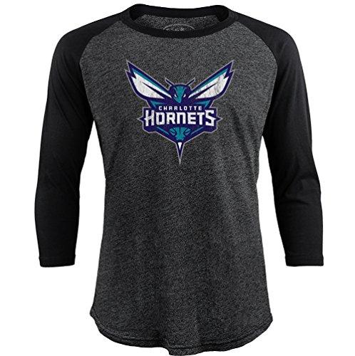 NBA Charlotte Hornets Men's Premium Triblend 3/4 Sleeve Raglan, XX-Large, - Charlotte Premium