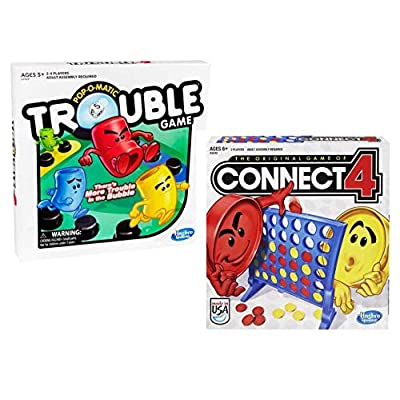 Connect 4 and Trouble Game Bundle: Toys & Games