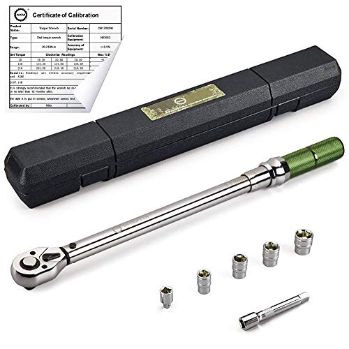 AKM 1/2-inch Drive Dual-Direction Click Torque Wrench Set High Precision Wrench with Buckle