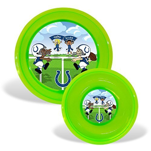 NFL Football Kids Toddler Plate & Bowl Set - Pick Team (Indianapolis Colts)