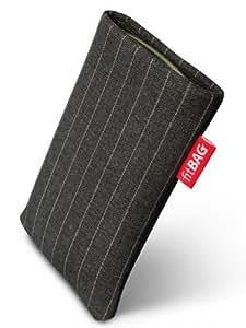 fitBAG Twist Graduado - Funda a medida, Exterior de tela a rayas, con forro interno de microfibra, para Sony Ericsson K810 K810i