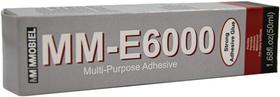 MMOBIEL E-6000 Adhesivo Transparente Semil/íquido Multiusos de Alto Rendimiento Industrial con puntas de precisi/ón para un trabajo limpio