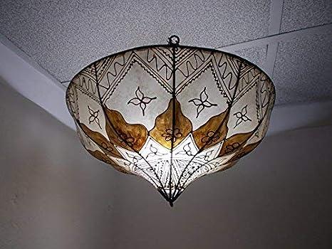 Lampadario Plafoniera Per Cucina : Lampadario etnico marocchino plafoniera lampada lanterna pelle