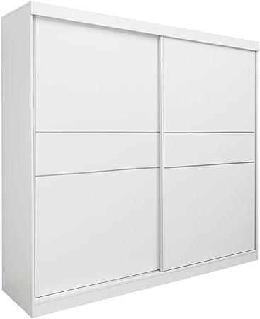 Schiebeturenschrank Kleiderschrank Bermeo 02 Farbe Weiss 220 X 240 X 65 Cm H X B X T Amazon De Baumarkt