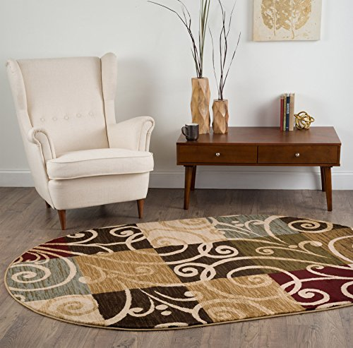 universal rugs geometric 5 ft 3 in x 7 ft 3 in oval area rug multi