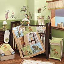 Lambs & Ivy Enchanted Forest 6 Pc Baby Crib Bedding Set Green