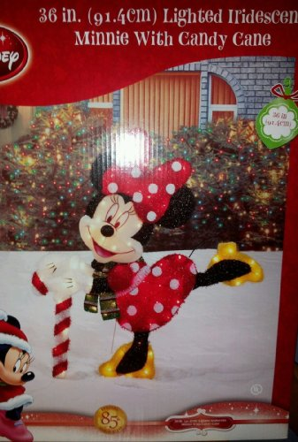 amazoncom rare disney minnie mickey mouse 36 holiday christmas pre lit tinsel yard art garden outdoor - Disney Outdoor Christmas Decorations
