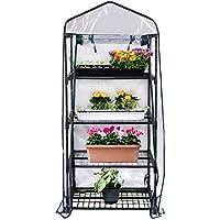 Gardman R687 4-Tier Mini Greenhouse, 27″ Long x 18″ Wide x 63″ High