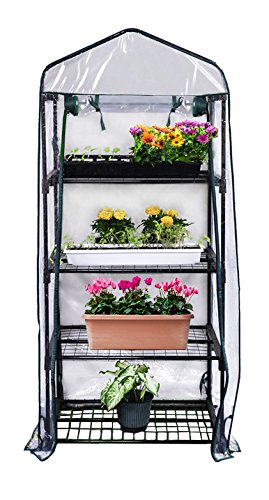 Gardman R687 4-Tier Mini Greenhouse, 27″ Long x 18″ Wide x 63″ High