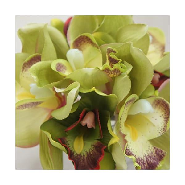 Lily-Garden-Mini-7-Stems-Cymbidium-Bouquet-Artificial-Flowers