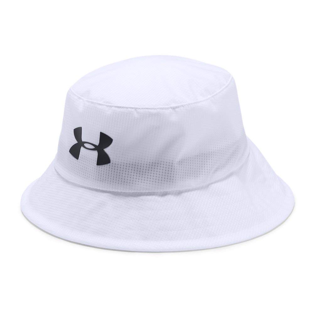 Under Armour Men's Storm Golf Bucket Hat, White (101)/Black, Medium
