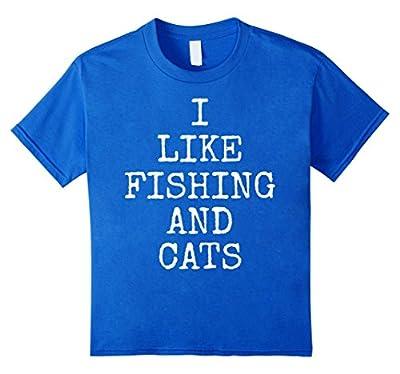 I Like Fishing And Cats T-Shirt   Funny Kitty Tee Shirt