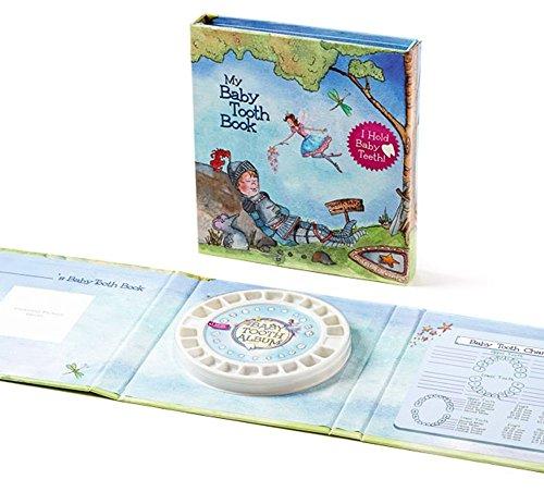 Süße Milchzahndose von der Zahnfee im Album - Das Geschenk zum ersten Zahn! - Baby Tooth Book, blau