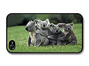 AMAF ? Accessories Funny Cute Koalas Hugging case for iPhone 4 4S