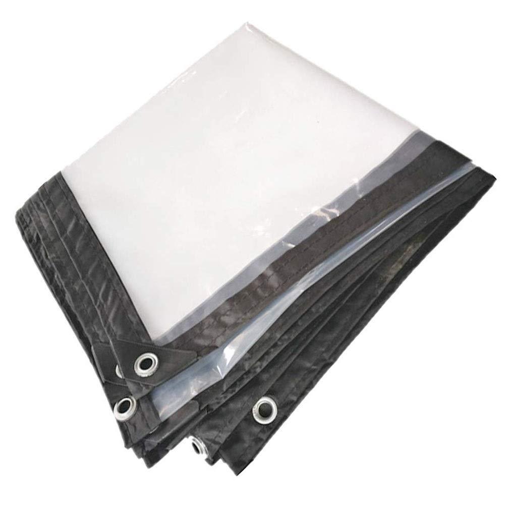 3×4m YU-BY BÂche imperméable Transparente de 0,13 mm d'épaisseur avec Oeillets, Couverture de qualité supérieure en 120 g m²,4×6m