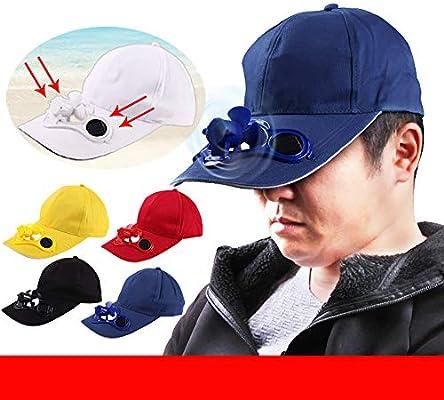 Tianjinrouyi Caps Gorra de Camping y Senderismo con Ventilador de energía Solar, Gorras de béisbol para Enfriar Gorras de Ventilador, Sombreros para Hombres y Mujeres, B: Amazon.es: Deportes y aire libre