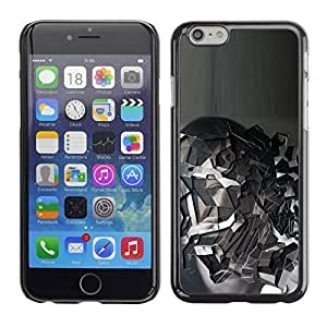 PC/Aluminum Funda Carcasa protectora para Apple Iphone 6 Grey mountain / JUSTGO PHONE PROTECTOR