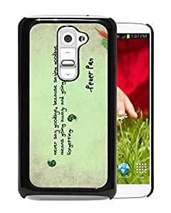 Beautiful Designed Cover Case For LG G2 With peter pan Black Phone Case