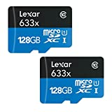 2-Pack Lexar 128GB Class 10 633x microSDXC (up to 95MB/s) Memory Card