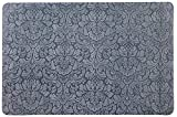 """Designer Indoor Floor Mats, Ultra-Thin Microfiber Stair Carpet with Slip-Resistant Rubber Backing to Reduce Slipping Risk - Quick and Easy to Install- Premium Quality (35""""x23"""", Gray, 1 pc.)"""