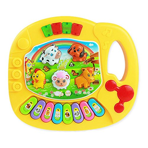[OVERMAL Baby Kids Musical Educational Animal Farm Piano Developmental Music Toy] (18 Month Old Lamb Costume)