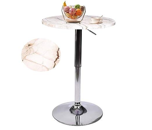 Mesa Redonda de Cocina Fullwat, Mesa de café Ajustable con ...