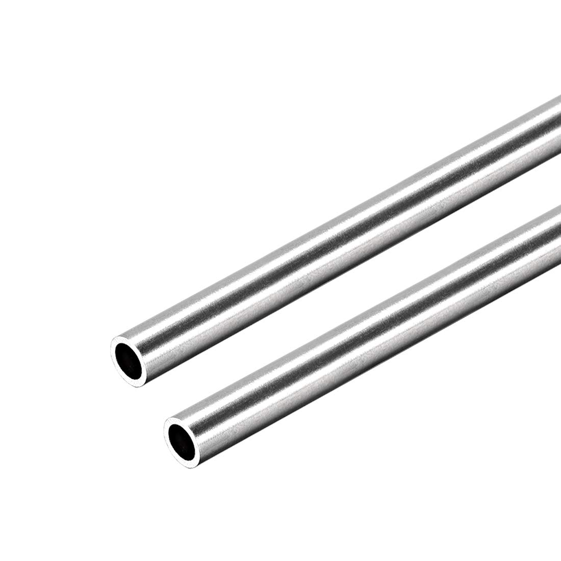 304 Stainless Steel Round Tubing 8mm OD 0.8mm Wall Thickness 250mm Length 4 Pcs
