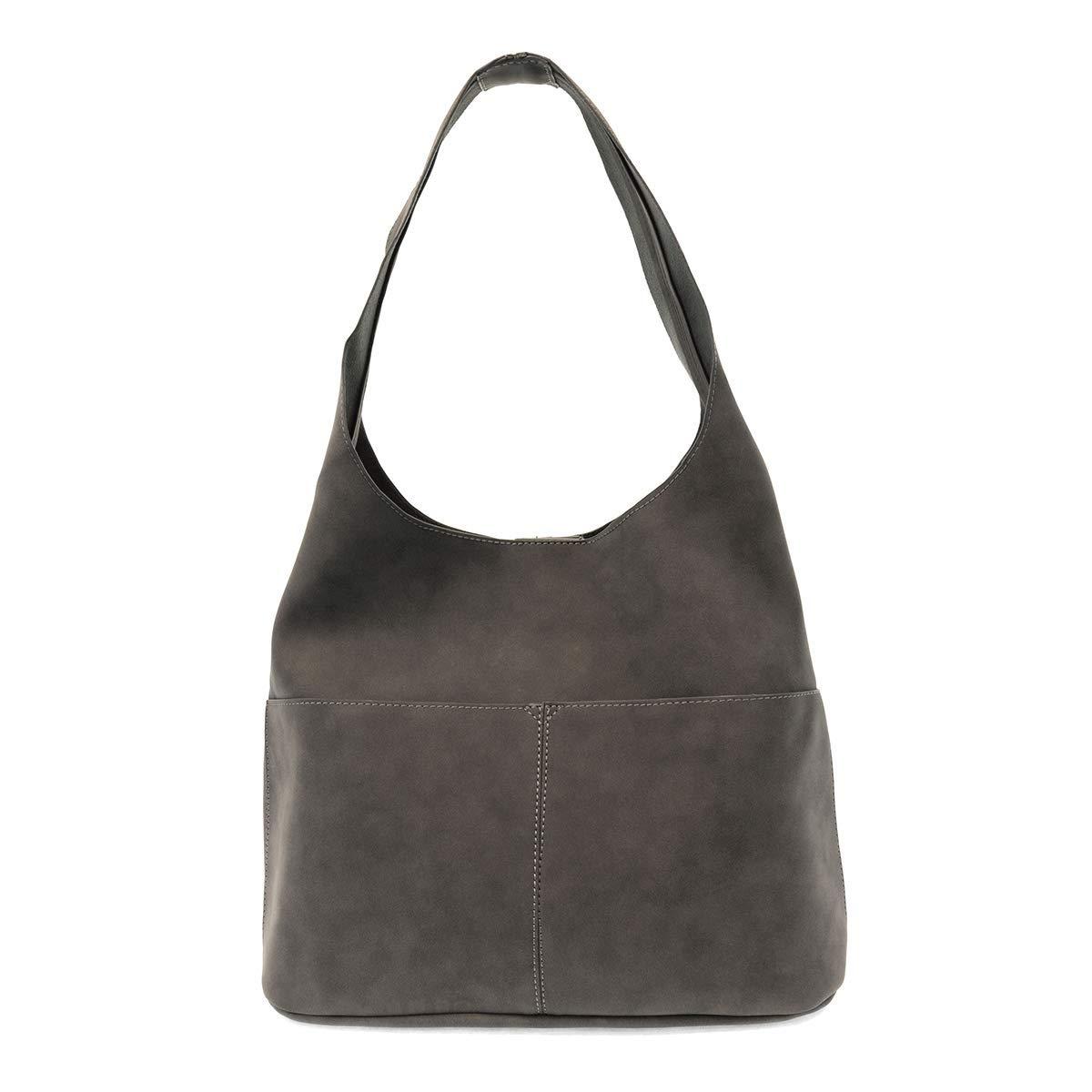 Dark Grey Joy Susan Jenny Sueded Hobo Handbag