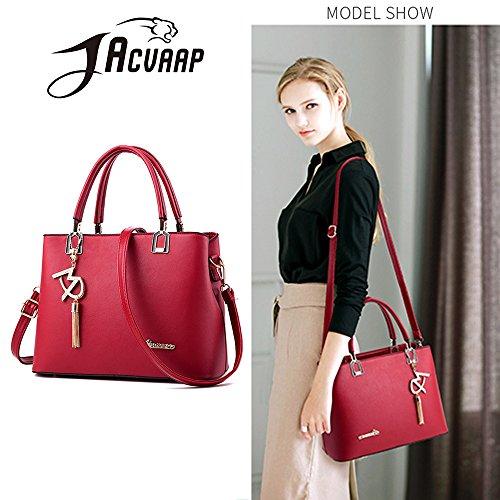 Cute American Bag 6 Women's Bag Popular JVPS18 Celebrity Waterproof New Overseas Red All Handbag Messenger Shoulder Bag Colors Handbag W pu European and 2018 Back Fashion Commuter wqz7UfIz