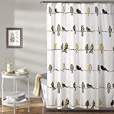 Yellow and Gray Shower Curtain Lush Decor Rowley Birds Shower Curtain, 72