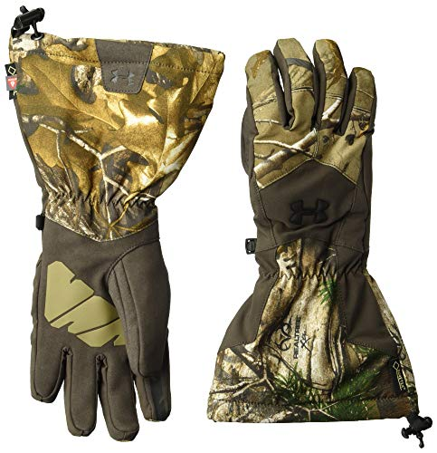 Under Armour Men's Scent Control Insulator 2.0 GORE-TEX Gloves, Realtree Ap-Xtra (946)/Black, - Under Gloves Hunting Armour