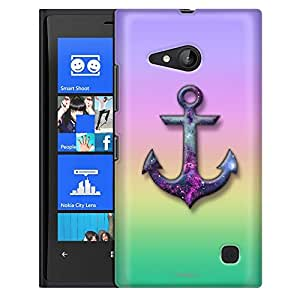 Nokia Lumia 730 Case, Slim Fit Snap On Cover by Trek Anchor on Rainbow Pastel Colors Case