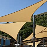 Shade&Beyond Shade Sail Triangle 15'x15'x21' Patio Sunshade Sail for Patio Lawn Deck Sand Color