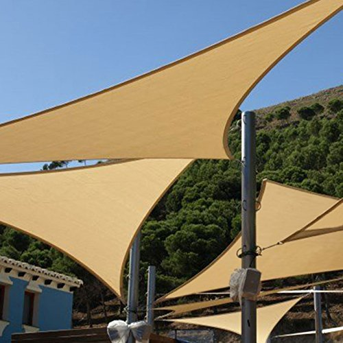 Shade&Beyond Shade Sail Triangle 15'x15'x21′ Patio Sunshade Sail for Patio ...