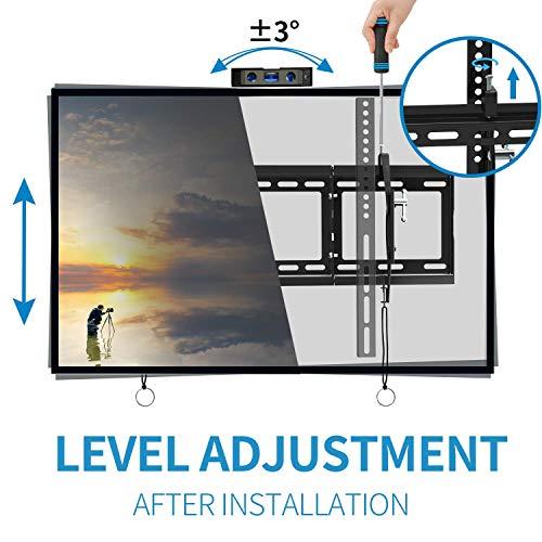 "EverstoneAdjustableTiltTVWallMountBracketforMost32-80InchLED,LCD,OLED,PlasmaFlatScreen,CurvedTVs,LowProfile,UpToVESA600x400and165LBS,IncludesHDMICableandLevel,Fits16"",18"",24"""