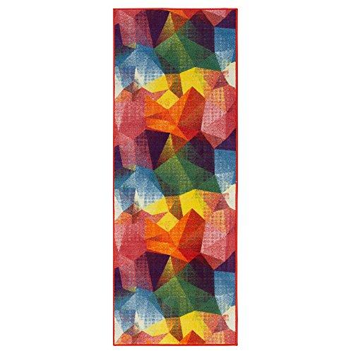 Ottomanson RNB2106-20X59 Ottomanson Rainbow Collection Non-Slip Modern Children's Abstract Pattern Design Kitchen Runner Rug, Multicolored, 20