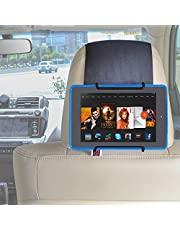 """TFY Universal Headrest Car Mount Car Holder for Kindle Tablet - Kindle Fire (Previous Generation 1st) / Kindle Fire HD 6 / Kindle Fire HD 7 / Kindle Fire HD X7 / Kindle HD X9 / HD 6 (2014) / HD 7 (2014) / HD 6 (Kid Edition) / HD 7 (Kid Edition) / New Fire 7"""" (2015) / Fire HD 8"""" / Fire HD 10"""""""