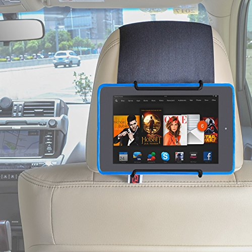 Price comparison product image TFY Car Headrest Mount Holder for all Kindle Fire - Kindle Fire HD 6 / HD 7 / HD X7 / HD X9 / HD 6 (2014) / HD 7 (2014) / HD 6 (Kid Edition) / HD 7 (Kid Edition) / New Fire 7 (2015) / HD 8 / HD 10