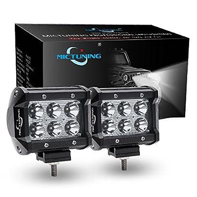 MICTUNING 06 series 2pcs 18W-36W CREE LED Lights Bar - 4x4 Off Road Boat Driving headlights -Jeep Polaris Razor ATV SUV UTV Car Truck