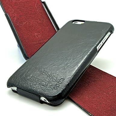 ecbf2d2e1505 Apple iPhone 6 6S Case Cover HOCO GENERAL SERIES Genuine Distressed Leather  Mobile Flip Case By SUPRIZEBOX(TM) (BLACK)  Amazon.co.uk  Electronics